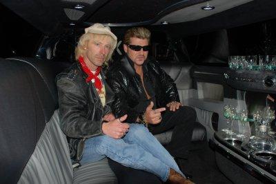 Dans la limousine vec mon pote , mon ami Johnny franck