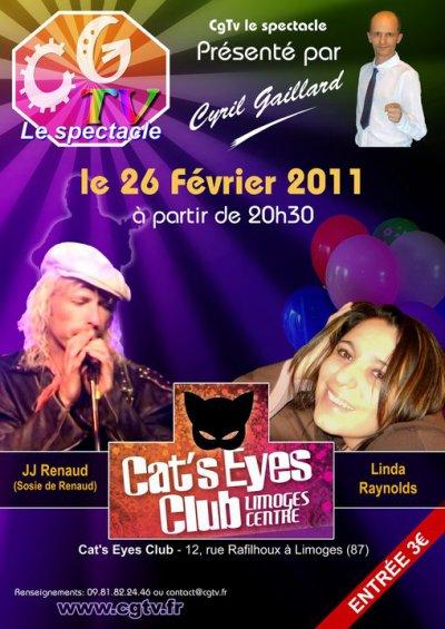 """EN CONCERT LIVE AU """" CAT'S EYES """"  à LIMOGES le 26 Février 2011"""