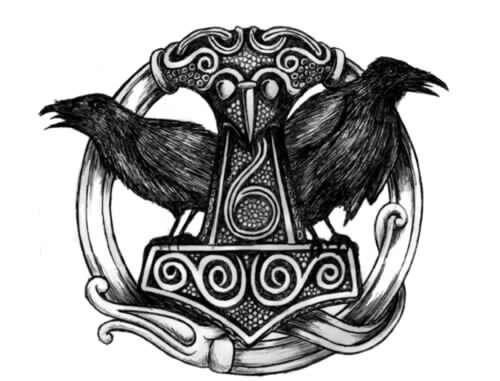 Hugin et munin mythologie nordique et autre chose qui - Dieu nordique 4 lettres ...