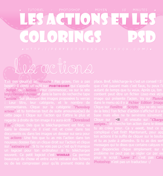 ________________________✿ Tutoriel #02 ; Les actions & les colorings PDS________________________ ________________________✿ Tutoriel #02 ; Les actions & les colorings PDS________________________ ________________________✿ Tutoriel #02 ; Les actions & les colorings PDS________________________