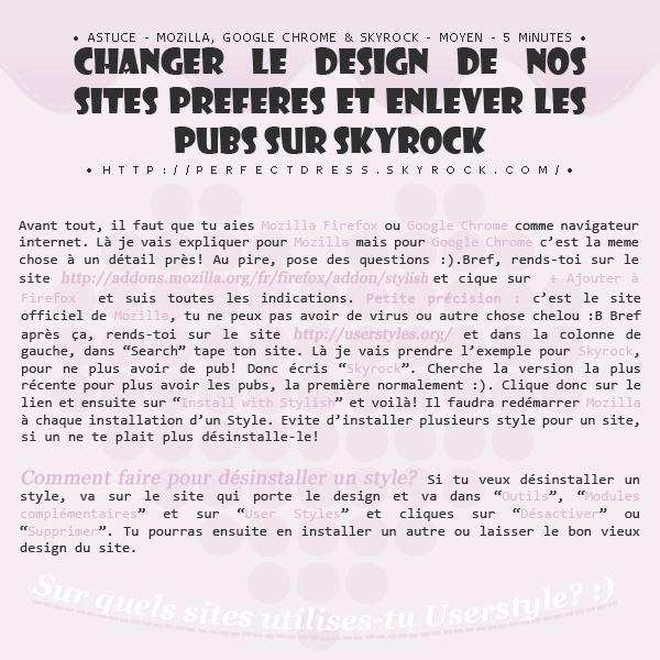 _____________✿ Tutoriel #03 ; Changer le design d'un site + enlever les pubs sur Skyrock_____________ _____________✿ Tutoriel #03 ; Changer le design d'un site + enlever les pubs sur Skyrock_____________ _____________✿ Tutoriel #03 ; Changer le design d'un site + enlever les pubs sur Skyrock_____________