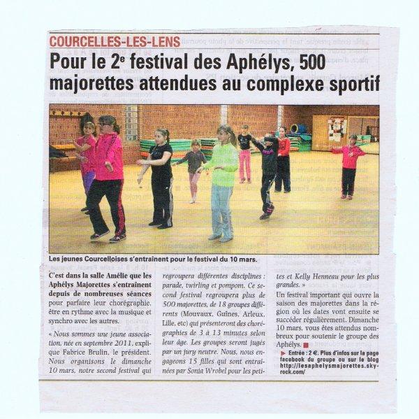Article de La Voix du Nord du 23/02/2013