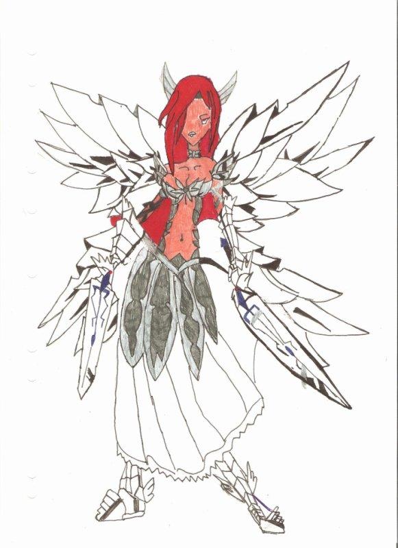 Dessin de erza scarlett en armure de cristal nouveaut manga sur fairy tail et one piece - Dessin armure ...
