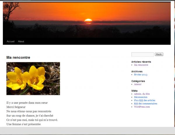 Mon nouveau blog