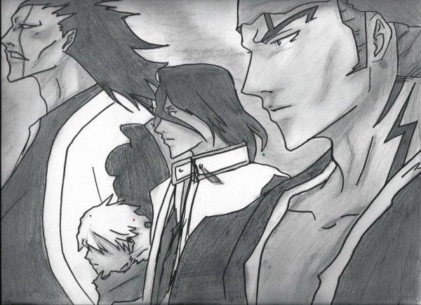 Renji, byakuya, toshiro, kenpachi
