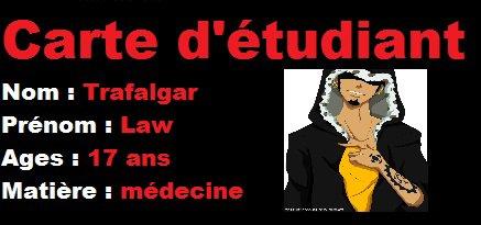 Présentation étudiant n°1 : Trafalgar law (moi)