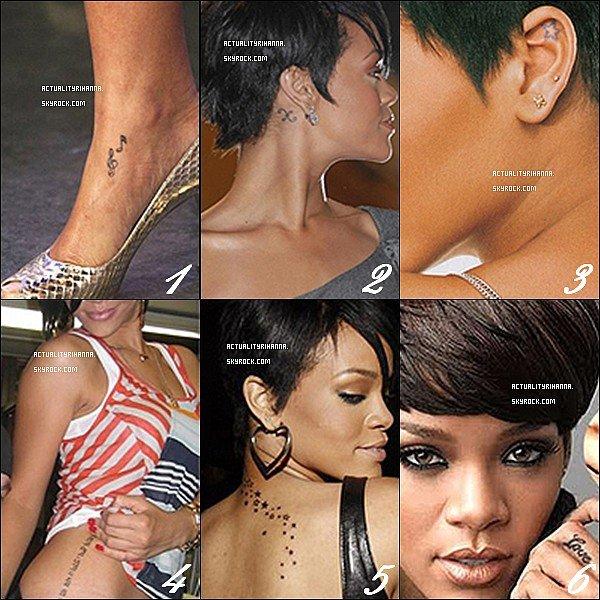 Rihanna Et Ses Tatouages Rihanna Collectionne Les Tatouages