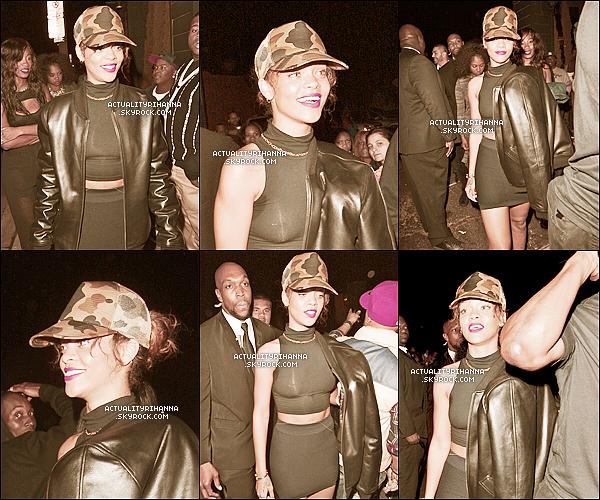 """. 29 janvier - Rihanna a été vue quittant une fois de plus le club """"Greystone"""" à Los Angeles.+ Rihanna est actuellement en train de prépaer la version complète de """"Birthday Cake"""", espérons que nous allons aimer !."""