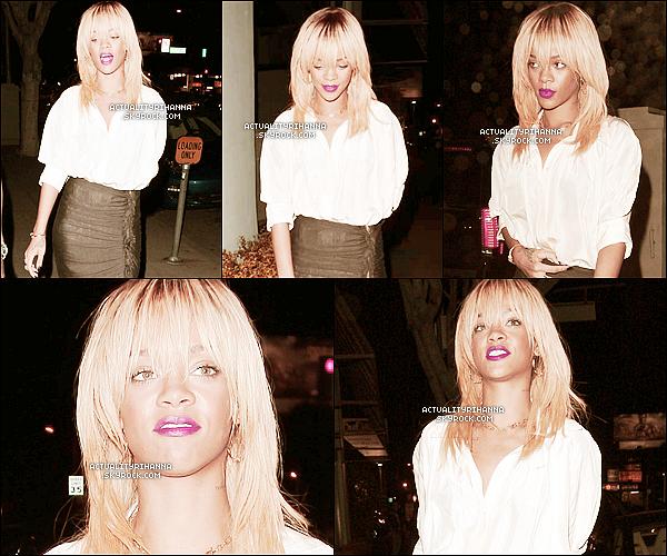 """. 08 février - Rihanna a été aperçue sortant d'un dîner à Los Angeles. Top ou Flop ?+ Rihanna a été vue sur le lieu du photoshoot pour le magazine """"ELLE"""" dont elle y fera la couverture.."""