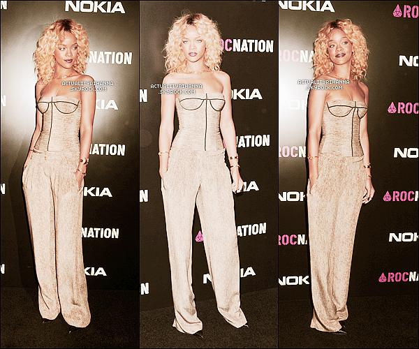 """. 11 février - Rihanna était à un brunch organisé par le label """"Roc Nation"""". Top ou Flop ?Rihanna est sublime, un véritable TOP ! Sa nouvelle coupe lui va à merveille, elle est ravissante !."""
