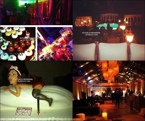 """. 14 février - Rihanna était de sortie au restaurant """"Scarpetta"""" à Los Angeles. Tu aimes la tenue ?Le soir, une fête surprise de pré-anniversaire de Rihanna a été organisé, où il y avait selon certaines rumeurs Chris Brown. ."""