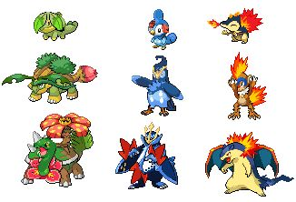 Mes starter pokemon en force - Starter pokemon blanc ...