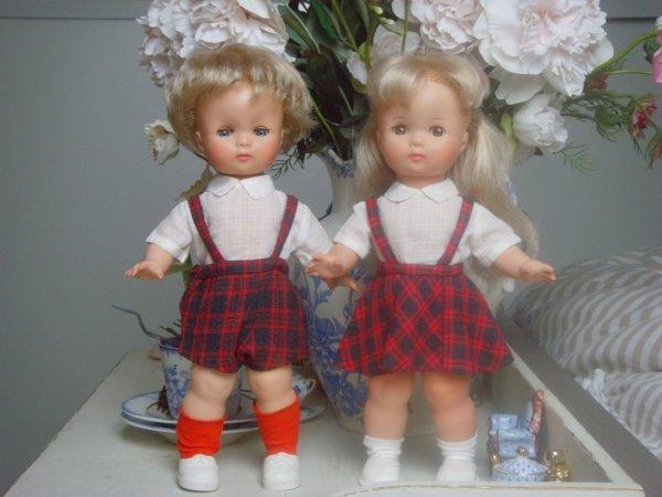 les jumeaux de Clodrey, Alain et Christine