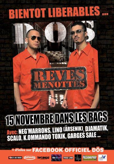 """DÖS - 1er album """"Rêves menottés"""" pour le 15 novembre 2010 dans les bacs... INCHALLAH!!!"""
