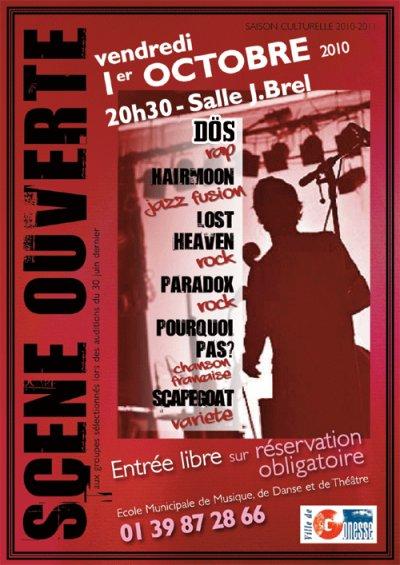 DÖS sur la scène ouverte de GONESSE vers 22h30 le vendredi 1er octobre 2010...