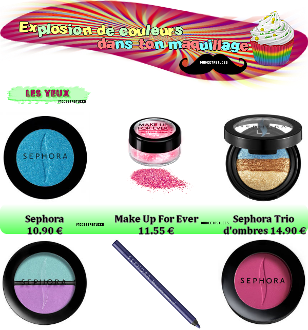 Article 13 : De la couleur dans ton make-up !