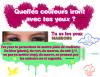 Article 14 : Quelles couleurs iront avec tes yeux ?