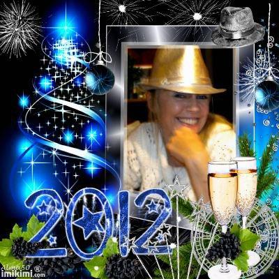 BONNE ET HEIUREUSE ANNEE 2012 A TOUS GROS BISOUS