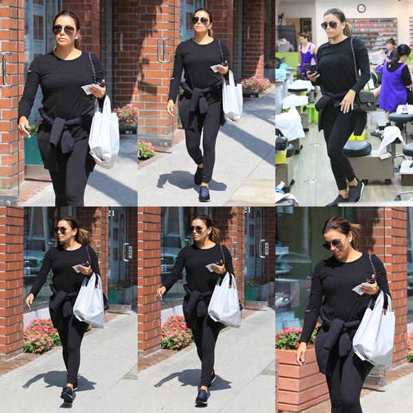 21/08/17 : Eva visitait un salon à Beverly Hills, en - Californie.