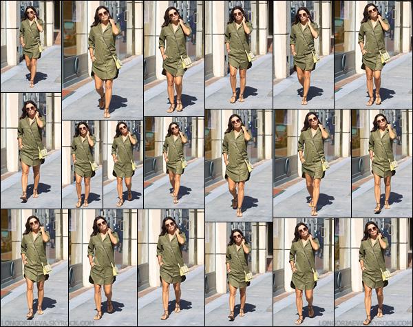 25/09/17 : Evaa été photographiée arrivant a un salon de manicureà Beverly Hills, en - Californie. J'aime bien la tenue qu'elle porte. Eva est trop belle !