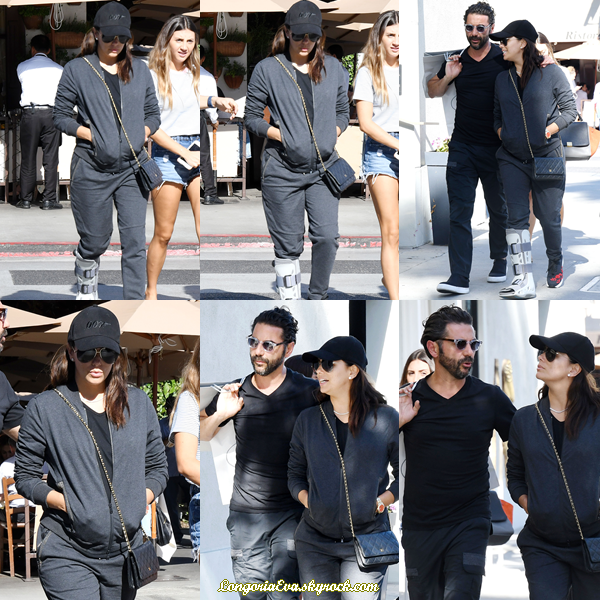 21/10/17 : Eva a été photographiée se promenant dans les rues de Beverly Hills , en - Californie. La belle s'est autorisée une virée shopping bien qu'elle soit bléssée au pied droit sans gravité.