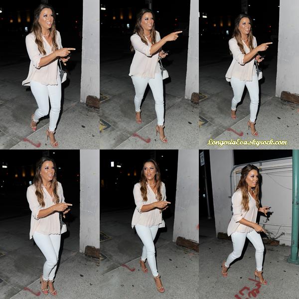 09/07/17 : Eva a été vu allant dîner avec des amies à Beverly Hills , en - Californie. Concernant la tenue, elle portait une tenue basée sur le blanc, je lui donne un top !