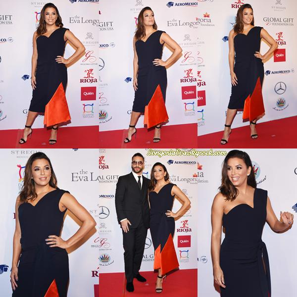 01/11/17 : Eva assistait au « Global Gift Gala » ayant pour thème «Unis par le Mexique» à Mexico , au - Mexique. La magnifique actrice était juste sublime avec une belle robe, je lui donne un top !