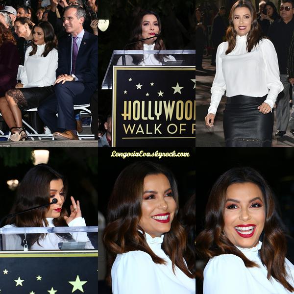 03/11/17 : Eva assistait à la cérémonie « Walk Of Fame » en mémoire de Selena Quintanilla à Los Angeles. La magnifique actrice était juste sublime avec une belle robe, je lui donne un top !