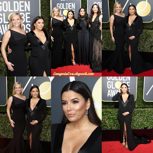 07/01/18 : Eva assistait à la  75e édition  des  Golden Globe Awards  à Beverly Hills , en - Californie.