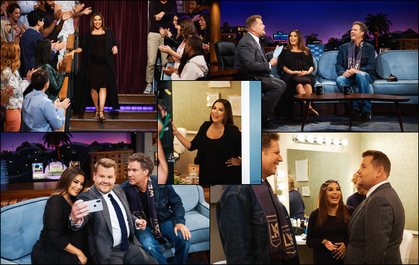 - 02/05/18 : Eva Longoria était présente au « The Late Late Show with James Corden » à New York.  -