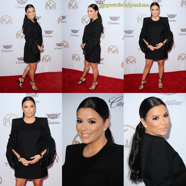 20/01/18 : Eva assistait à la  29e édition  des  Producers Guils Awards  à Beverly Hills , en - Californie. J'accorde un gros top pour la tenue sans hésitation car elle est vraiment trop belle ! Petit plus pour son ventre arrondi.