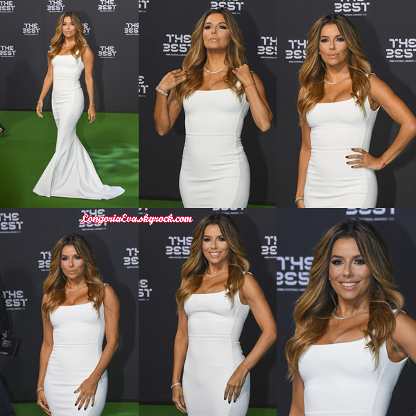 09/01/17 : Eva assiste au FIFA Football Awards 2016 à Zurich (Suisse).
