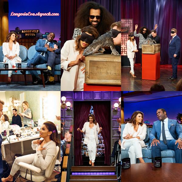 09/05/17 : Eva au Late Late Show avec James Corden à Los Angeles.