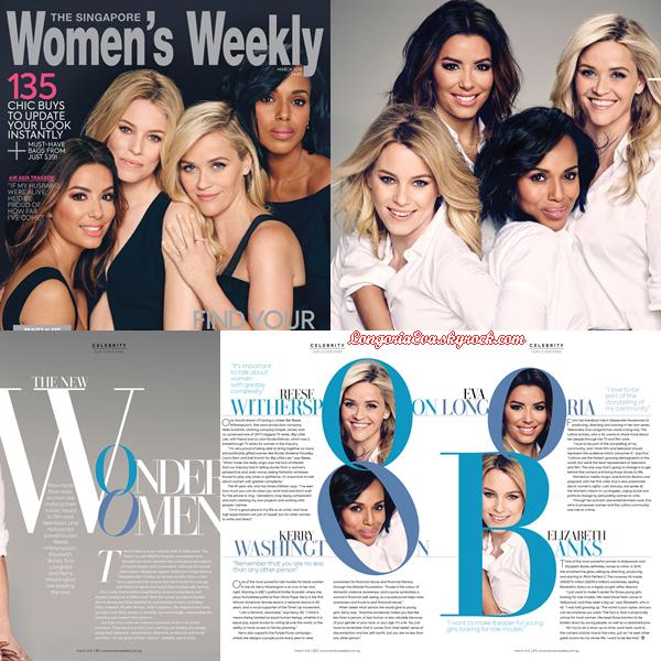 """"""" • COVER """"WOMEN 'S WEEKLY"""" (Singapour) le magasine où Eva pose pour Mars 2018 !  """""""