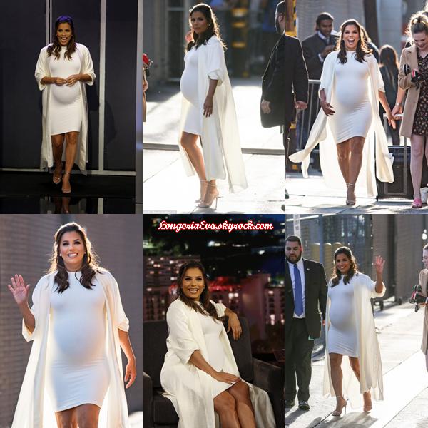 10/04/18 : Eva assistant et quittant l'émission  Jimmy Kimmel Live  à Hollywood. L'actrice était rayonnante en tenue blanche, c'est un gros top pour ma part !