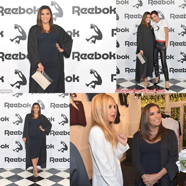 12/04/18 : Eva présente au lancement de la collection de Victoria Beckham à Beverly Hills , en - Californie. Une tenue de nouveau sombre mais Eva est très élégante, top !