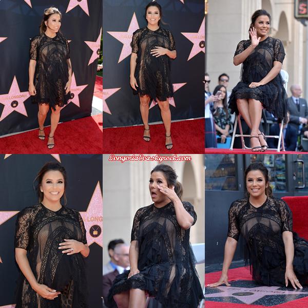 16/04/18 : Eva se faisant honorée d'une étoile au Walk of Fame à Beverly Hills , en - Californie. L'actrice était vraiment magnifique pour cet événement, un gros top bien mérité !