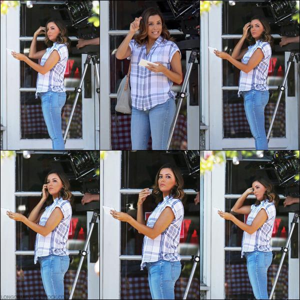 09/06/17 : Eva sur le tournage d'Overboard  à Vancouver , au - Canada.