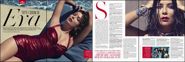 """"""" • COVER """"Vanity Fair (Italie)"""" le magasine où Eva pose pour Septembre 2018 !  """""""