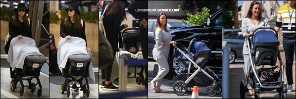 12/09/18 : Eva arrivant avec Santiago à l'aéroport LAX de Los Angeles , en - Californie. Puis dans la journée, l'actrice se promenait dans la ville à nouveau avec son fils.