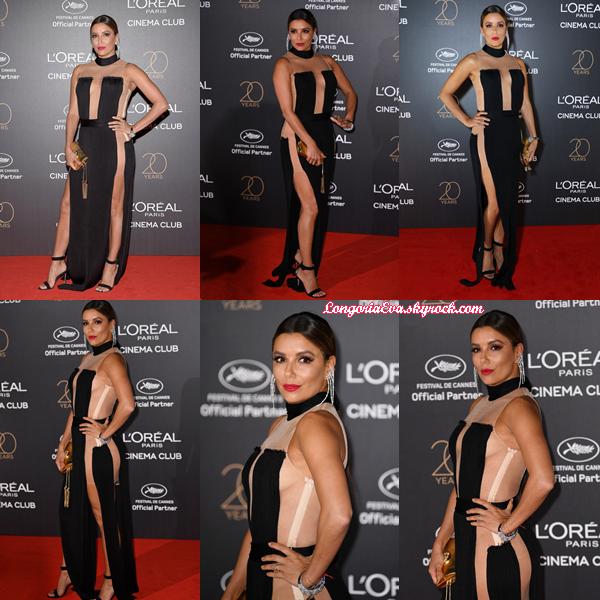 24/05/17 : Eva assistait à la Fête d'anniversaire du Cinéma L'Oréal lors du 70e Festival de Cannes à Cannes , en - France.