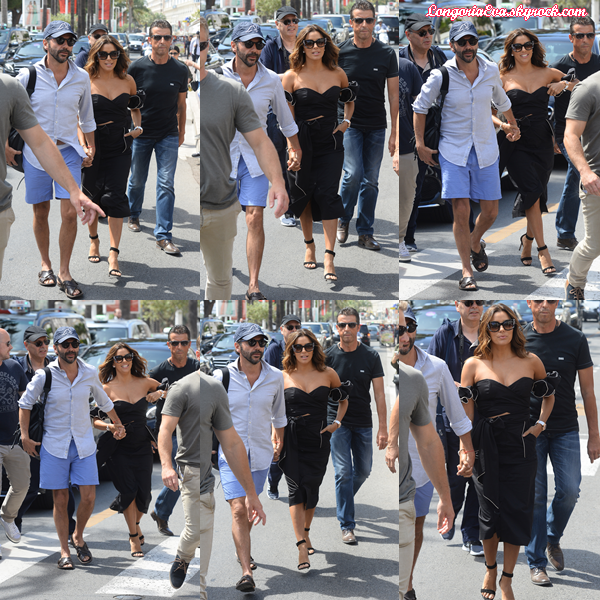 23/05/17 : Eva arrivant au Martinez Hôtel , à Cannes en - France.