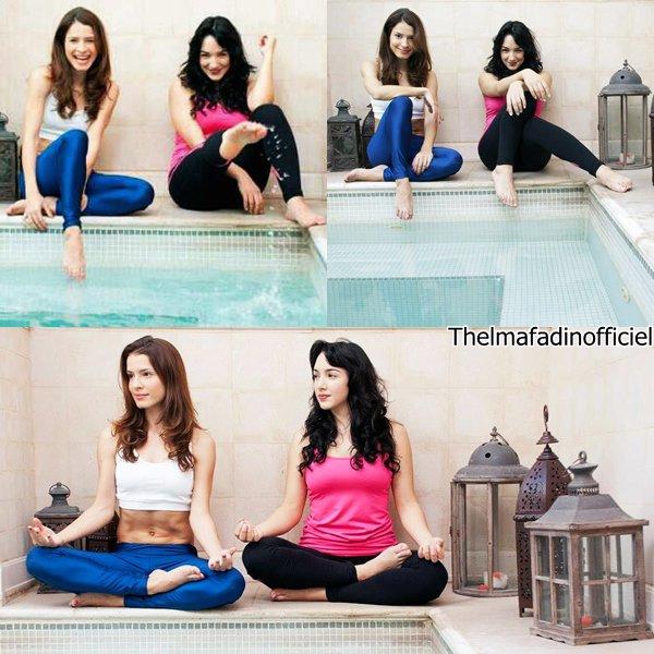 • Photoshoot de Thelma et Chachi Telesco pour Fibra humana.