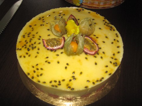 mousse passion palet gélifié mangue ananas