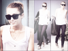 25/04/12 : Miley quittant son cours de Pilate matinal à West Hollywood.