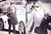 26/04/12 : Miley se rendant à  l'hôpital de Burbank avec sa mère Tish.