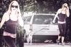 29/04/12 : Miley se promenant avec Floyd à Toluca Lake.
