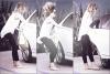 09/05/12 : Miley quittant son cour de pilate à West Hollywood, les cheveux au vent.