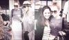 18/05/12 : Miley posant avec des fans à la sortie de son hôtel à Miami avec Brandi et Tish.