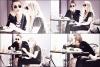 24/05/12 : Miley et Tish déjeunant avec des amis dans un restaurant à Toluca Lake.